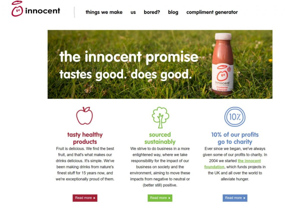 innocent drinks mission statement