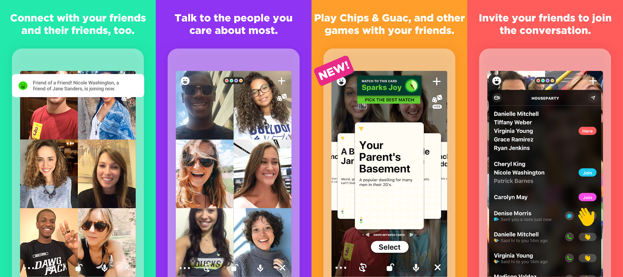 Giant Peach Houseparty App