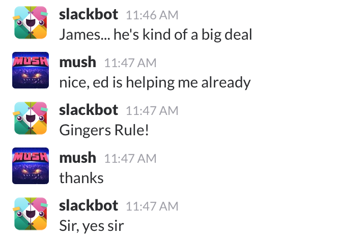 Slackbot screenshot